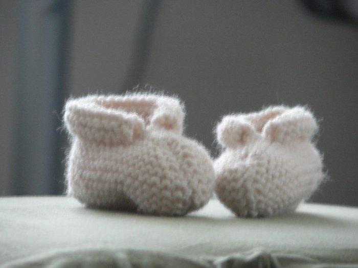 Handmade Baby Booties - Cream