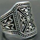 Assassin's Creed Knights Templar Men's Handcrafted Turkish .925 Fine Silver Ring