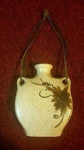 Vintage Hangable Floral Coin Collection Savings Bank Flower Vase Jar from Israel