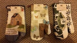 Oven Mitt Kitchen Mitten Hot Tray Holder 100% Cotton for Baking Holiday Home 13""