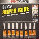 8 Pcs Super Glue for Rubber Metal Glass Plastics Ceramics Wood Pro Touch® Brand