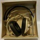 VINTAGE PAIR of RADIO EARPHONES HEADSET SANSUI with PLUG