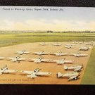 VINTAGE  POSTCARD PLANE ON WARM UP APRON NAPIER FIELD ALABAMA