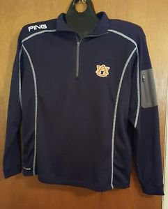 AUBURN TIGERS PING Pull over long sleeve shirt sz L NEW!!