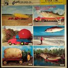 VINTAGE SALESMAN SAMPLE SHEET POSTCARDS...NOVELTY FISH & VEGETABLES