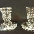 Vintage Waterford Crystal Candlestick Holders 3 1/4""