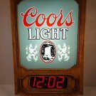 Vintage 1981 Coors light Advertising Lighted Clock Works  16x11