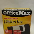 "OFFICE MAX IBM formatted 3.5"" Computer Diskettes 2004"