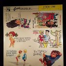 VINTAGE SALESMAN SAMPLE SHEET POSTCARDS...COMICS 60..g