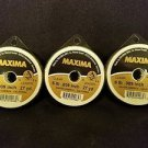 Maxima Clear 6 lbs 27yds Leader Material Fishing Line 3 PACK