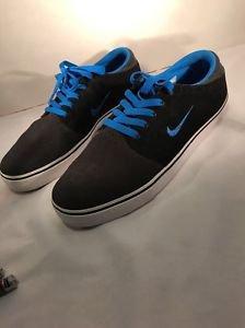 "Mens 11 NIKE ""SB Team Edition"" Black Gray Blue SkateBoard Shoes"