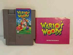 WARIOS WOODS with manual NES NINTENDO ENTERTAINMENT SYSTEM
