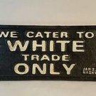 CAST IRON REST ROOMS WHITE COLORED SEGREGATION SIGN BLACK AMERICANA L&N TRAIN