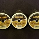 Maxima Clear 12 lbs 27yds Leader Material Fishing Line 3 PACK