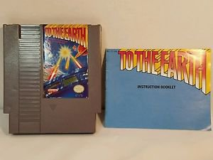 TO THE EARTH with manual NES NINTENDO ENTERTAINMENT SYSTEM