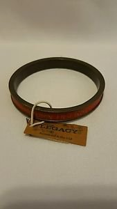 AUBURN TIGERS ORANGE/METAL BANGLE BRACELET, LEGACY jewelry