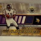 Daunte Culpepper  2001 Private Stock Game Worn Gear/PATCH #90
