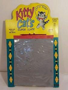 SUPER SLATE FUN MAGIC SLATE 1961 KITTY CATS