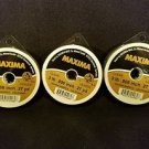 Maxima Clear 3 lbs 27yds Leader Material Fishing Line 3 PACK