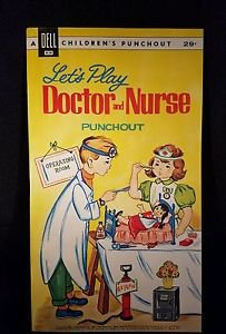 DELL CHILDREN'S PUNCHOUT DOCTOR AND NURSE 1962