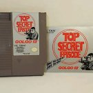 GOLGO 13 TOP SECRET EPISODE with manual NES NINTENDO ENTERTAINMENT SYSTEM