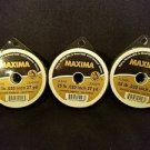 Maxima Clear 25 lbs 27yds Leader Material Fishing Line 3 PACK