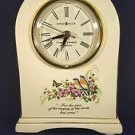 Howard Miller #645-211 White Porcelain Mantle Clock