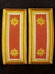 US Army Male Dress Blue Shoulder Boards Quartermaster Corps/Lieutenant Colonel..