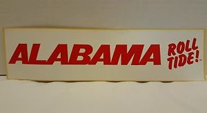 "Vintage University Of Alabama, ROLL TIDE"", Bumper Sticker"