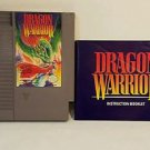 DRAGON WARRIOR with manual NES NINTENDO ENTERTAINMENT SYSTEM