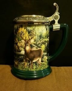 Franklin Mint The Official 10-Point Buck Collector Tankard by Rick Fields