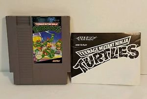 TEENAGE MUTANT NINJA TURTLES with manual NES NINTENDO ENTERTAINMENT SYSTEM