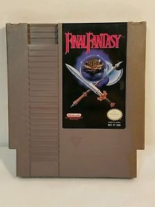 FINAL FANTASY WITH MANUAL AND 2 MAPS NES NINTENDO ENTERTAINMENT SYSTEM