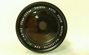 Starblitz Auto Zoom Macro 1:4.5-5.5 80mm-200mm L8308785 Camera Lens Japan