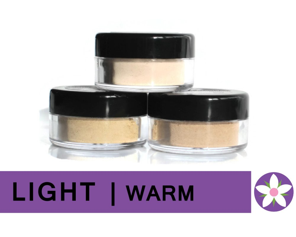 LIGHT Warm Color Mineral Foundation Powder in Matte Finish