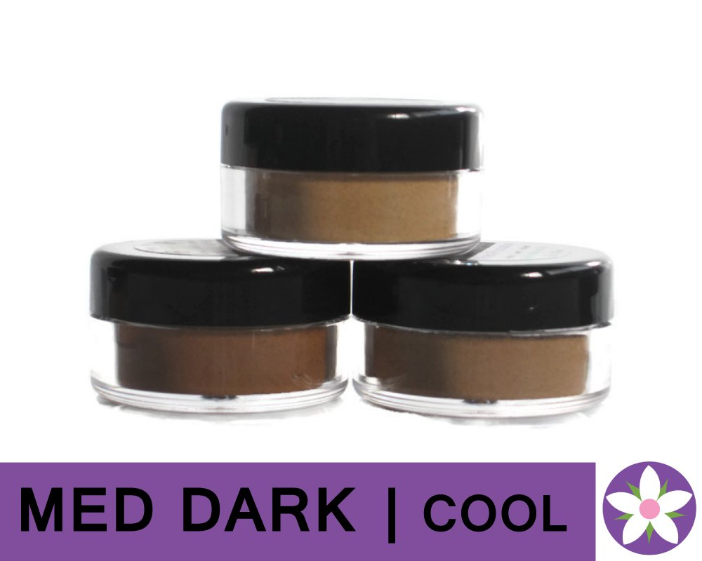 MEDIUM DARK Cool Color Mineral Foundation Powder in Matte Finish