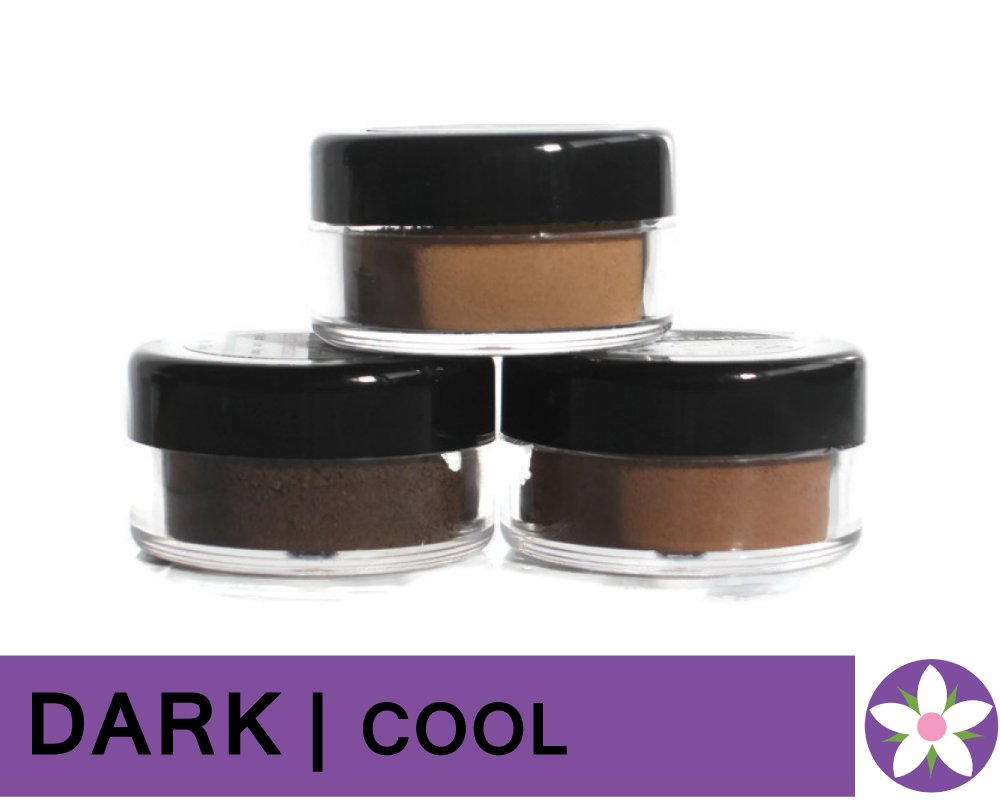 DARK Cool Color Mineral Foundation Powder in Matte Finish