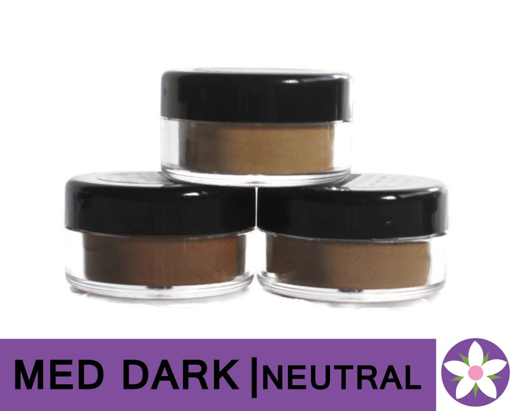 MEDIUM DARK Neutral Color Mineral Foundation Powder in Matte Finish