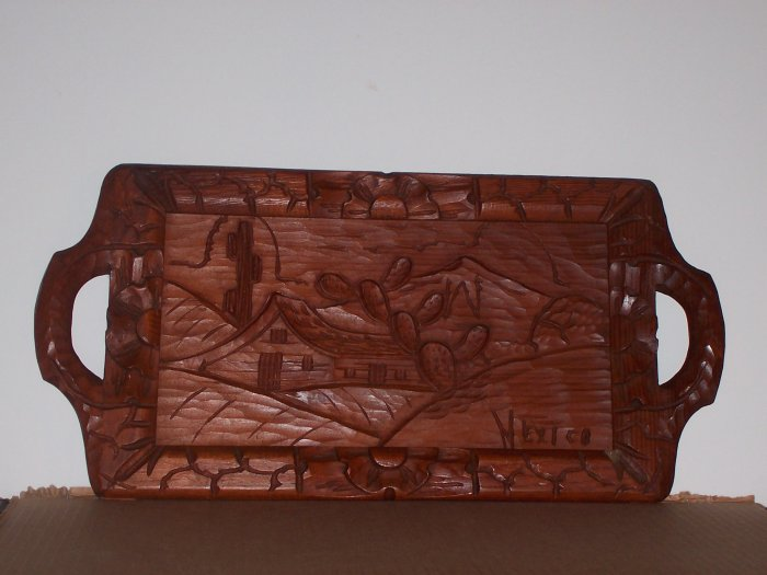 Mexico Carved Serving Tray