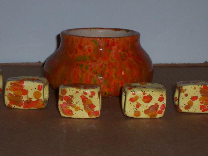 Orange Pottery Bowl