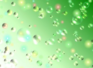 Bubble in Green Template
