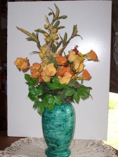 Blue Speckled Flower Pot - Two Pieces