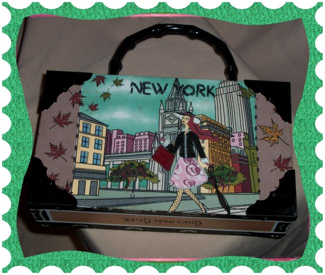 Cigar Box Purse - New York Design
