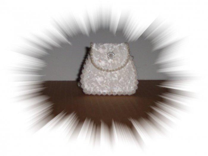 Small White Doll Purse