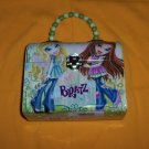 Bratz Tin Roll Purse - Beaded Metal Tote - Toy Carrier