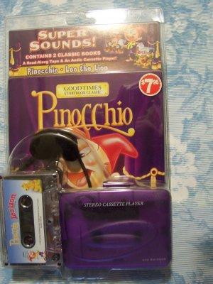 Pinocchio - 2 classic books with studio cassette player