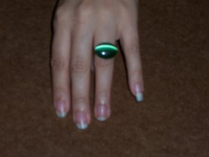 Handmade Oval Green with Envy Ring
