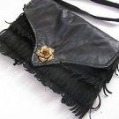 Vintage Marvelous Women's Black Leather Purse