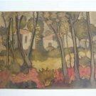Avraham Azmon { Israeli , 1918 - 2008 } watercolor on paper