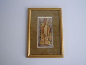Russian - unidentified artist - marvelous constructivism on paper painting